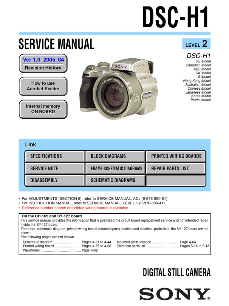 Sony Dsc H1 Service Manual Computer Data Storage Capacitor 1500 Wiring Diagram