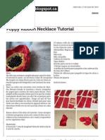 Www.carouseloftina.blogspot.ca Poppy Ribbon Necklace Tutorial