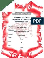 Informe Posta Condorillo