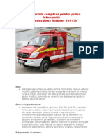 Autospeciala Complexa Pentru Prima Interventie Mercedes-Benz Sprinter 519 CDI