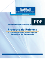Proyecto de Reforma a la Constitución Política de la República de Guatemala