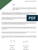 Declaración de Caritas 2012
