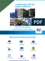 EU career opportunities and selection procedures by Rita Hinek (EPSO)