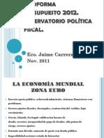 Presentacion presupuesto 2012
