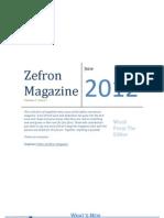 Zefron Magazine June Edition 2012