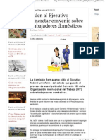 27-06-12  Piden al Ejecutivo concretar convenio sobre trabajadores domésticos