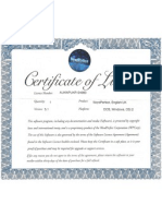 Certificate of License for WordPerfect 5.1