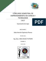 CONCURSO SEMESTRAL DE EMPRENDIMIENTO EN CIENCIA Y TECNOLOGÍA