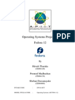 Operating Systems - Fedora 12 - Hirosh Tharaka