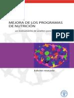 Analisis de Programas de Nutricion
