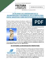 202 Aniversaria Nacimiento Prefectura Naval Argentina