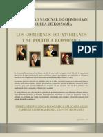 Presidentes Del Ecuador y Su Politica Economica
