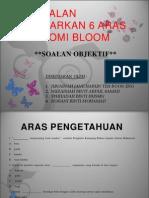 Bina Soalan Berdasarkan 6 Aras Taksonomi Bloom
