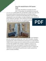 Diferentes tipos de municiones del 9m1ç