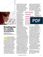 RT Vol. 5, No. 3 Breeding rice for rainfed ecosystems