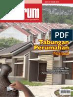 Kebijakan Tabungan Perumahan Nasional. Media Komunikasi Komunitas Perumahan 'INFORUM' Edisi 3 Tahun 2011