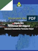 Memori Akhir Jabatan Kepala Biro Perencanaan dan Anggaran Kementerian Perumahan Rakyat Periode Juli 2010-Maret 2012