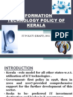 Information Technology Policy of Kerala+PPT