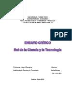 Ensayo Critico Rol de La Ciencia y La Tecnologia