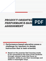 Product Oriented Performance Based Assessment1