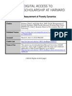 Hojman-Kast Measurement Poverty Dynamics