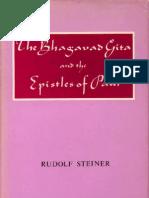Rudolf Steiner - The Bhagavad Gita and the Epistles of Paul