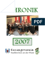 Gesangsverein Taufkirchen Chronik 2007