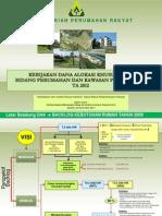 Kebijakan Dana Alokasi Khusus Bidang Perumahan dan kawasan Permukiman tahun 2012