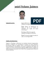 Hoja de Vida Jose Daniel Solano Jaimes