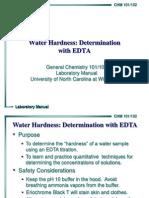 Water Hardness Edta