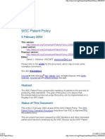 W3C Patent Policy