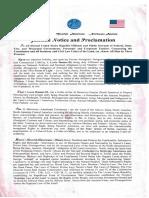 Moorish American Proclamation Declaration