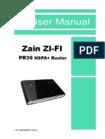 Zain PR39 User Manual 20110131-2