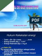 Jenis-Jenis Energi Dan Hukum Kekekalan Energi