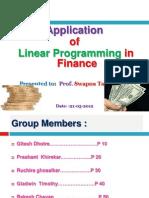 Application Oflpp in Finance Ppt Final - Copy