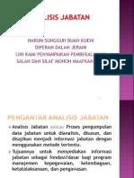 Presentasi Analisis jabatan 2012