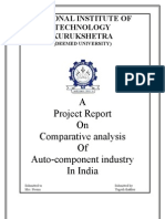 18991101 Project Report on Comparative Analysis of Auto Component Industry in India