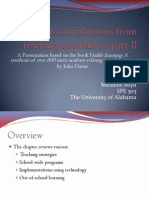 The Contributions From Teaching Approaches-part Ll