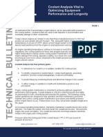 Coolant Analysis Vital to Performance