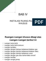 BAB IV Instalasi Ruang Khusus