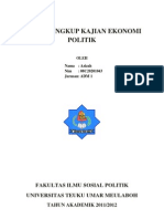 makalah ekonomi politik 1