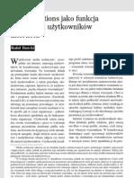 Public relations jako funkcja aktywności użytkowników internetu