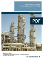 Latest Developments in Ammonia Production Technology
