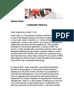 Company Profile Haier