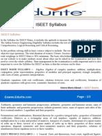 ISEET Syllabus