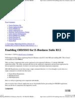 Enabling OID_SSO for E-Busi...