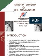 Summer Internship @ Bsnl, Trivandrum