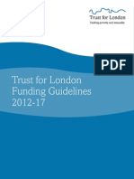 Trust for London Funding Guidelines 2012-2017