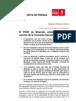 El PSOE de Móstoles inicia el camino.