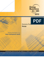 Doing Business in Kenya_economic Profile 2012_TIMOTHY MAHEA